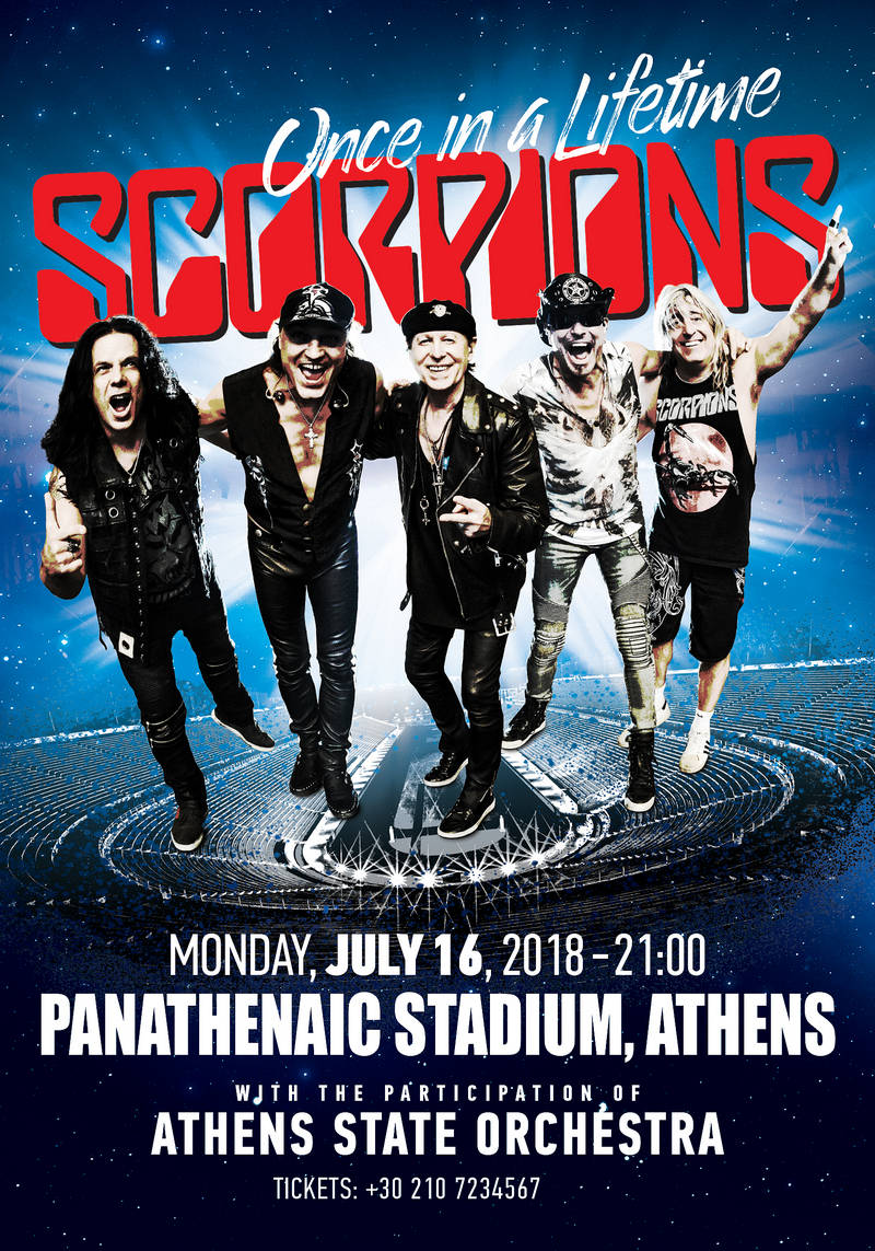 """SCORPIONS """"Once in a Lifetime"""" :: TicketServices.gr"""